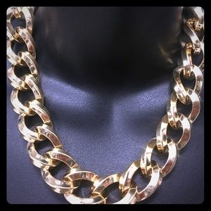 Heavy gold chain link necklace NWOT